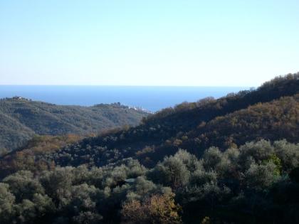 Panoramablick zum Meer bis Imperia